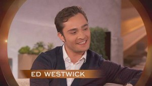 cuplikan of Ed Westwick's appearance on the queen Latifah tampil