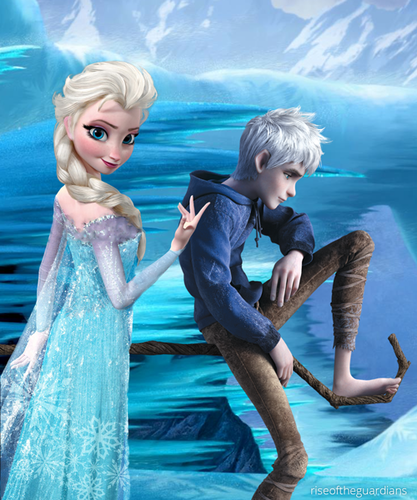 frozen images princess elsa and jack frost wallpaper and