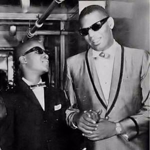 sinar, ray Charles And Stevie Wonder Backstage