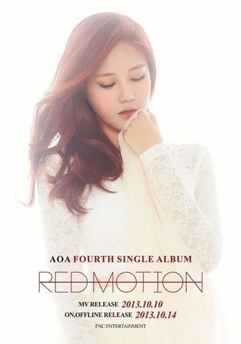 AOA (Ace of angles wallpaper with a portrait entitled Red motion Hyejeong