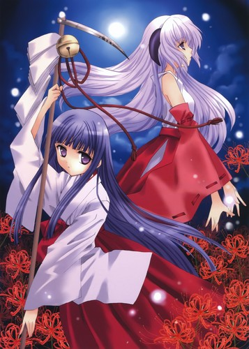 Higurashi no Naku Koro ni wallpaper called Rika & Hanyū