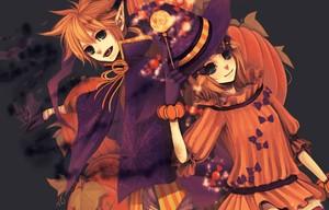 Rin Len halloween