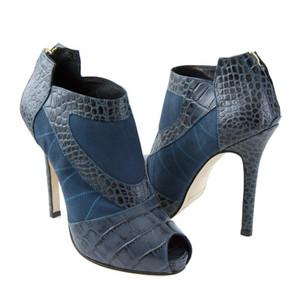 Royal Blue Ankle Boots, Royal Blue Stilettos, High Heel Ankle Boots, Kathryn Howard