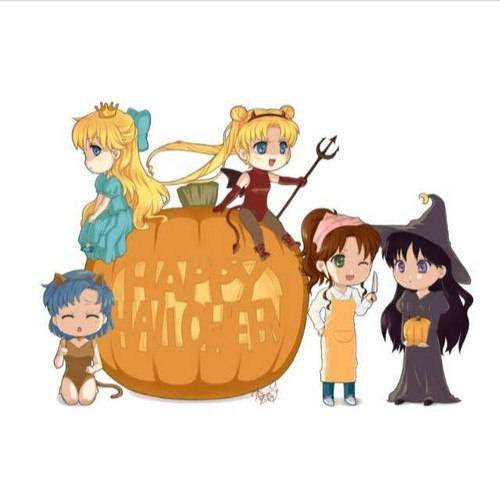 katilicious hintergrund possibly with anime called sailor moon happy halloween