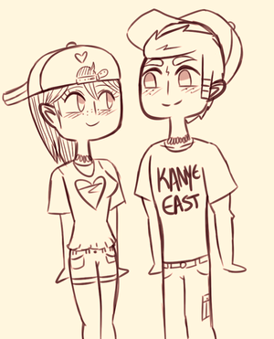 Scourtney as hipsters I think