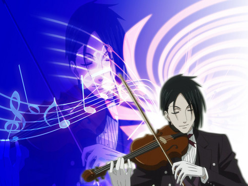Sebastian Michaelis wallpaper with a violist entitled Sebastian Michealis Wall Paper