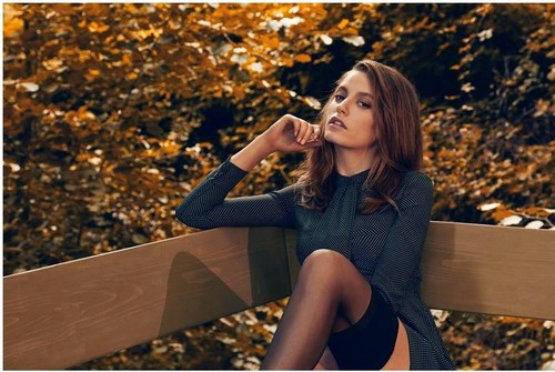 Serenay Sarikaya wallpaper with tights and a playsuit called Serenay - Turkish Vogue