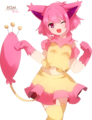 Skitty, Personified!~ - skitty fan art