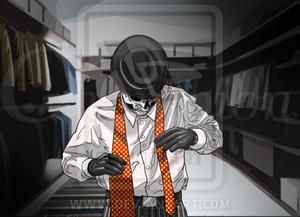 Skulduggery - Damn tie.