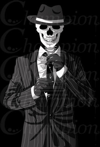 Skulduggery Pleasant wallpaper called Skulduggery - Print