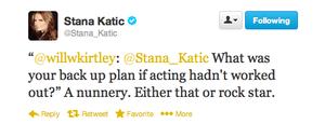 Stana's twitter-Octuber,2013