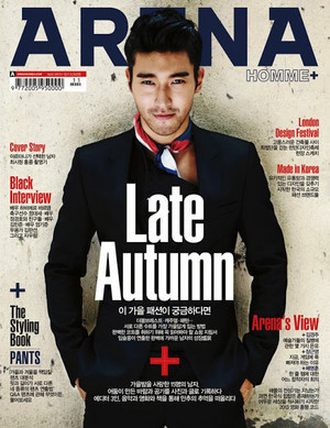 Super Junior's Siwon in 'Arena Homme+'