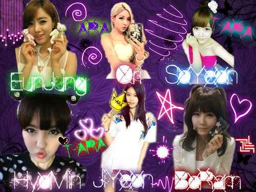T-ARA (Tiara) wallpaper entitled T-ARA Names