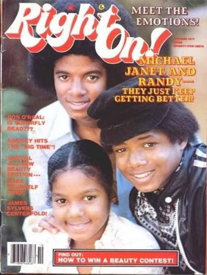 "The Jackson Family On The Cover Of ""Right On!"" Magazine"