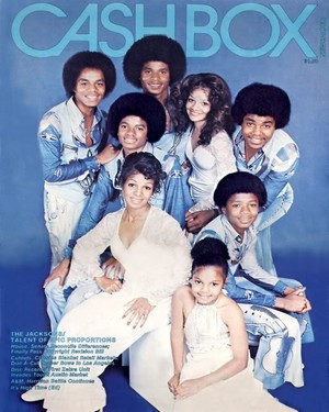The Jacksons On The Cover Of CASHBOX Magazine