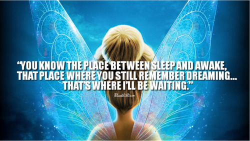 Quotes wallpaper titled Tinkerbell