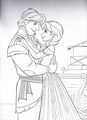 Walt Disney Coloring Pages - Kristoff & Princess Anna - walt-disney-characters photo