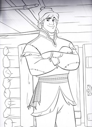 Walt ディズニー Coloring Pages - Kristoff Bjorgman