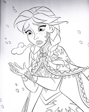 Walt 디즈니 Coloring Pages - Princess Anna