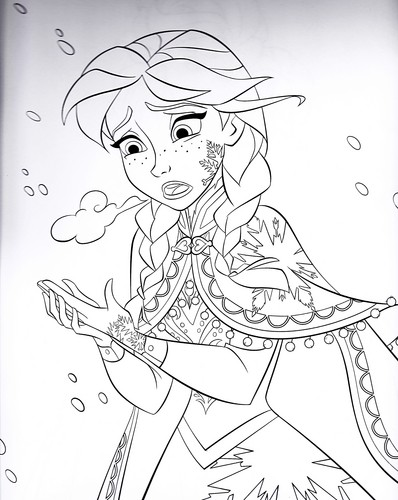 Walt Disney Characters wallpaper probably with anime entitled Walt Disney Coloring Pages - Princess Anna