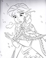 Walt 迪士尼 Coloring Pages - Princess Anna