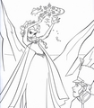 Walt 디즈니 Coloring Pages - 퀸 Elsa & Prince Hans Westerguard