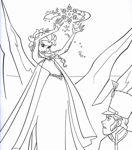 Walt Disney Characters wallpaper called Walt Disney Coloring Pages - Queen Elsa & Prince Hans Westerguard