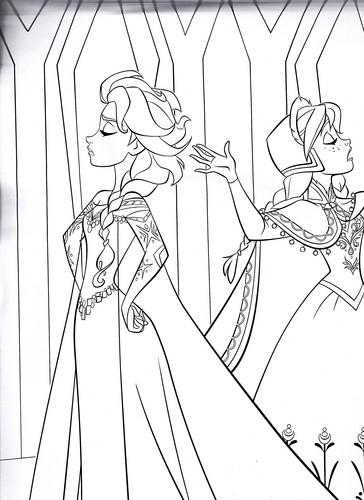 Walt Disney Characters wallpaper called Walt Disney Coloring Pages - Queen Elsa & Princess Anna