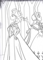 Walt 迪士尼 Coloring Pages - 皇后乐队 Elsa & Princess Anna