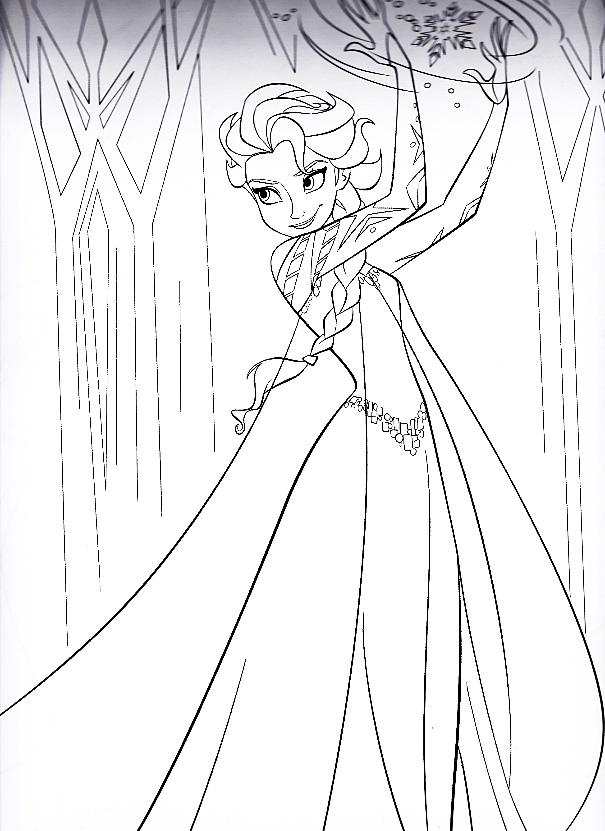 Coloring Pages Queen Elsa : Free printable coloring pages elsa