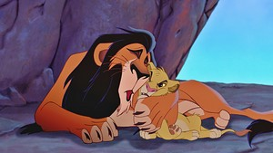 Walt डिज़्नी Screencaps - Scar & Simba