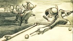 Walt Disney Sketches - Pinocchio & Lampwich