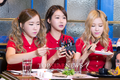 Way, Gummi and Ellin at Shanghai TV  - crayon-pop photo