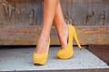 Yellow High Heels
