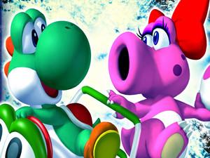 Yoshi and Birdo MKDD