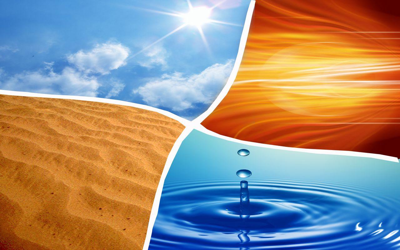 air, fire, earth, water
