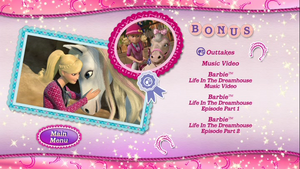 barbie & her sisters in a gppony, pony tale dvd main menu