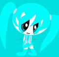 blue as hatsune mku - powerpuff-girls fan art