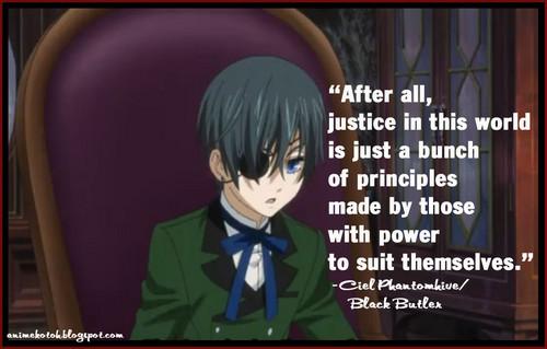 Black Butler - Il maggiordomo diabolico Citazioni ~