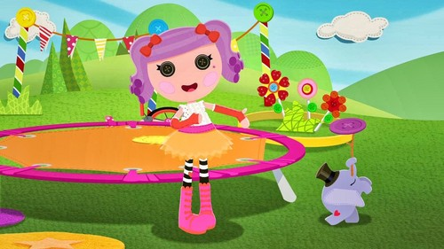 Lalaloopsy wallpaper possibly with a parasol titled lala