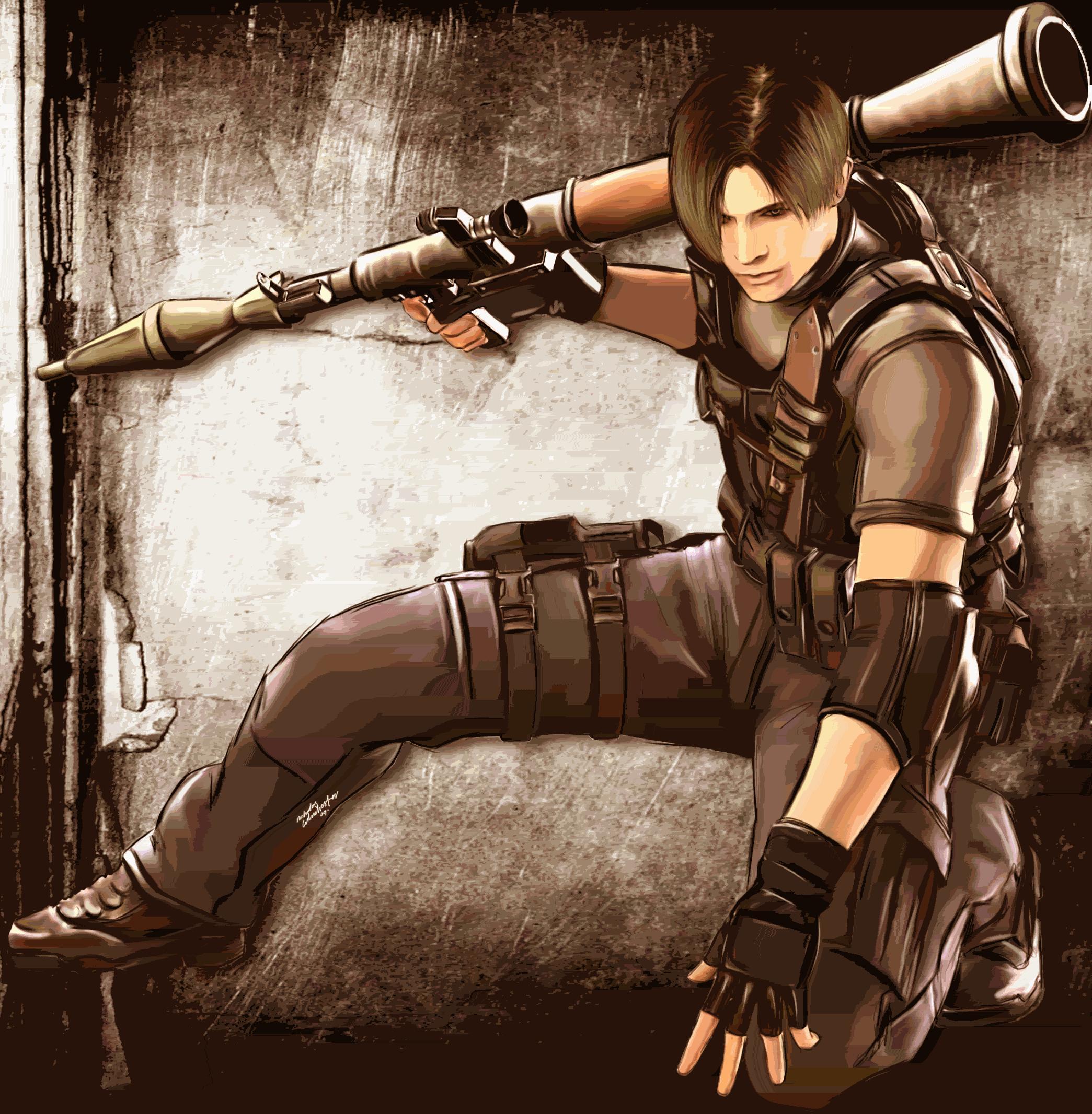Leon Resident Evil 4 Fan Art 35806401 Fanpop