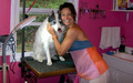 lisa with a dog - wwe-former-diva-ivory photo