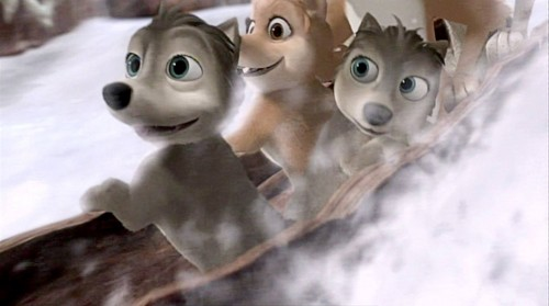 Alpha and Omega 2: a howl-iday adventure Hintergrund entitled log sledding!!!!!