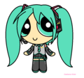 puffed miku - powerpuff-girls fan art