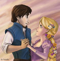 rapunzel and flynn - rapunzel-and-flynn fan art