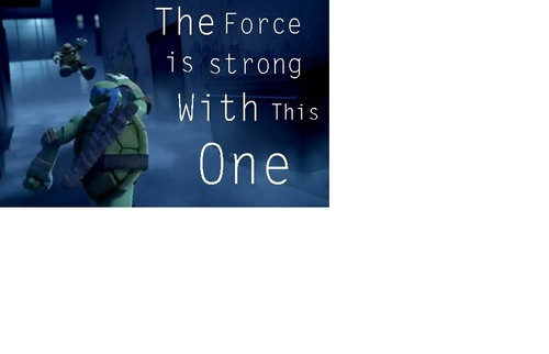 2012 Teenage Mutant Ninja Turtles wallpaper titled the force is strong with this one