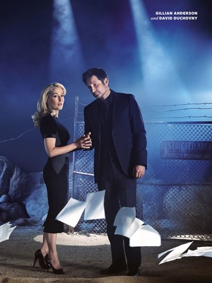 x files reunion /EW Cover
