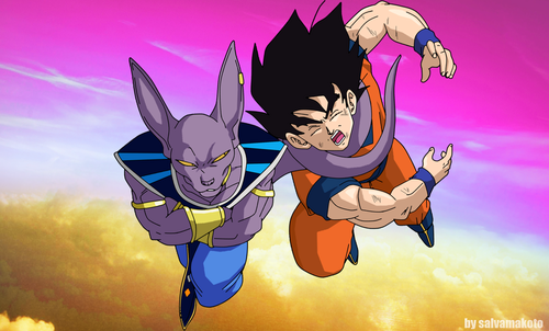 Dragon Ball Z wallpaper possibly with anime entitled *Goku V/s Bills*