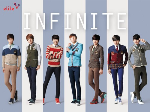 Kpop karatasi la kupamba ukuta probably containing a legging, long trousers, and a pantleg titled ♥ INFINITE! ♥