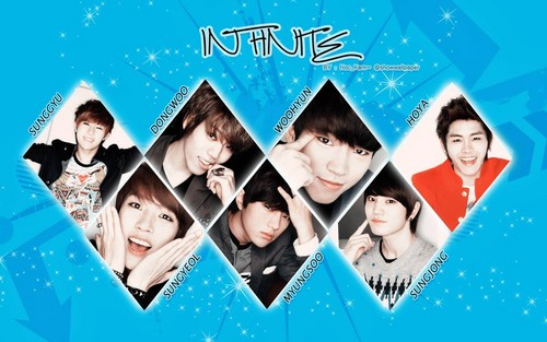 Kpop wallpaper probably with a kimono called ♥ INFINITE! ♥